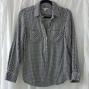 Black and white checkered shirt by Merona